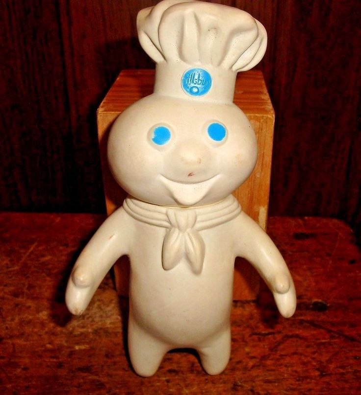 Vintage Pillsbury Dough Boy Figure Poppin Fresh Company Logo #PillsburyDoughBoy