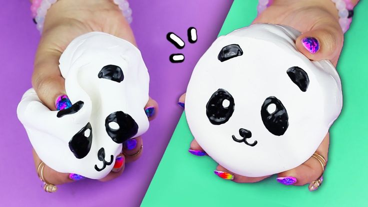 DIY Panda SQUISHY ♥ MAKE YOUR OWN SQUISHIES!! This is literally so cute!! Subscribe to HelloMaphie