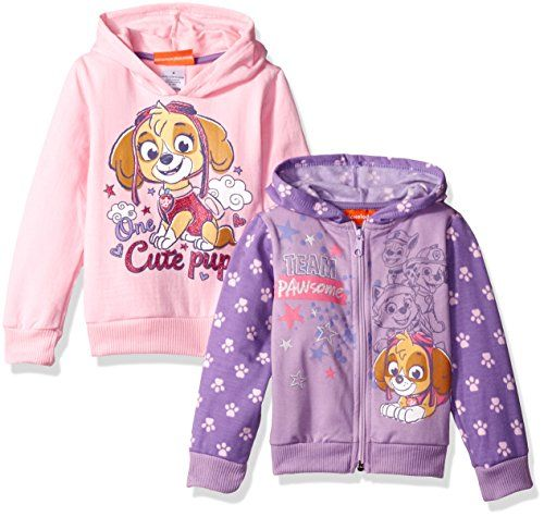 Nickelodeon Girls' Paw Patrol 2 Pack Hoodies  Super cute  Can get 2 separate outfits out of it  Great value