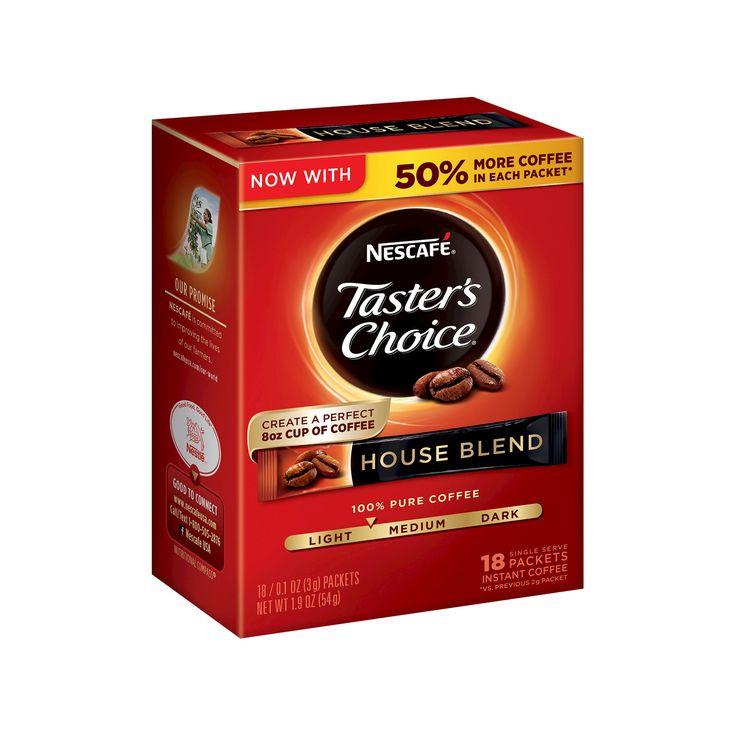 Nescafé Taster's Choice House Blend Instant Coffee - 18ct