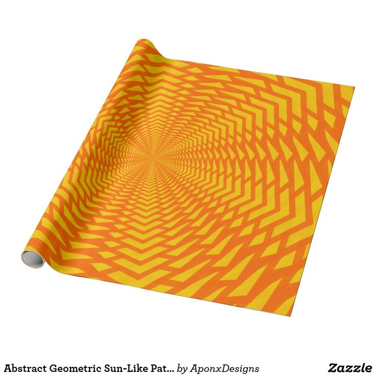 Abstract Geometric Sun-Like Pattern Wrapping Paper