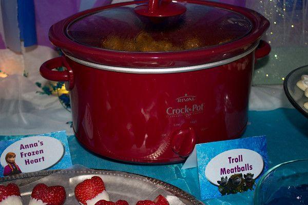 Troll Meatballs Frozen Party Food Ideas Frozen Party Ideas