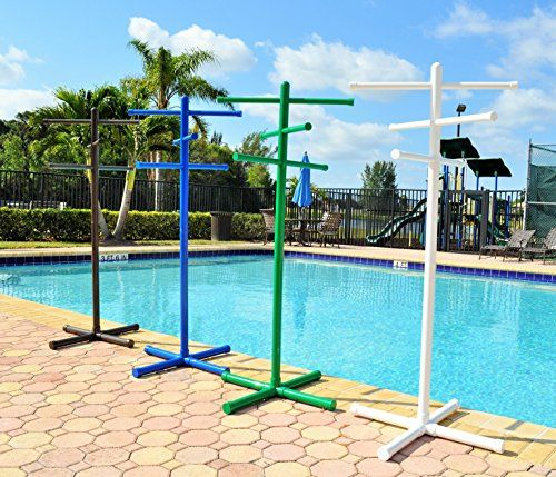 Pool & Spa Towel Rack Green Premium Extra Tall Towel Tree Outdoor PVC Home Garden Accessories