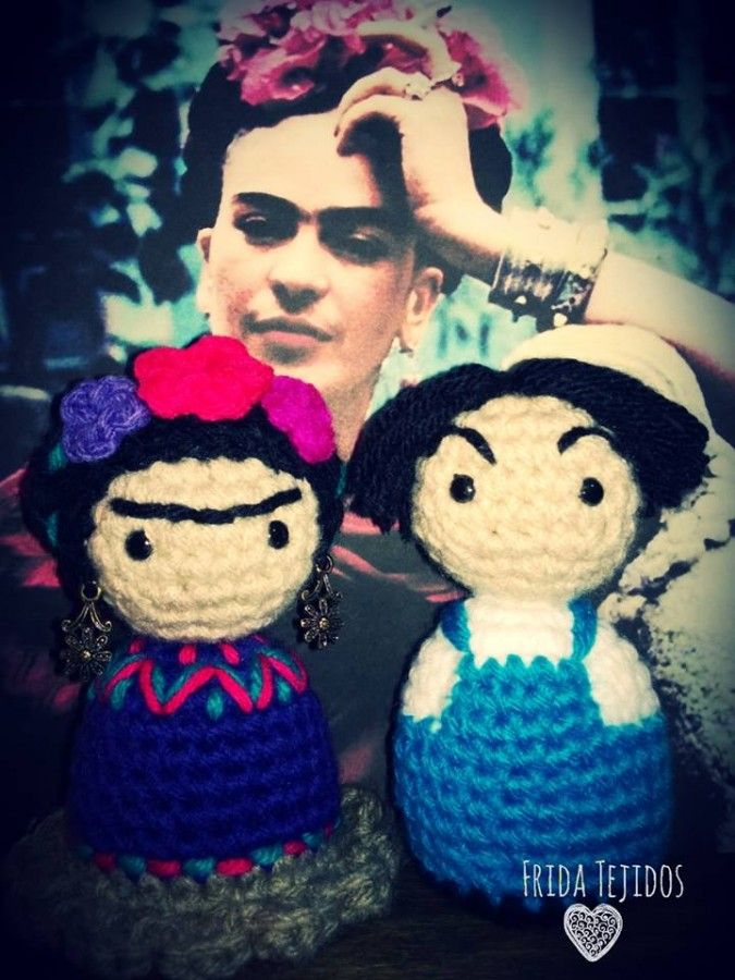 Amigurumi Monster Free Pattern : 140 best images about MUnECA FRIDA KAHLO on Pinterest ...