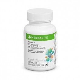 Fórmula 2   Fórmula 2 Complejo Multivitamínico de Herbalife, contiene vitaminas y minerales esenciales para ayudarle a conseguir su CDR (Cantidad diaria Recomendada).