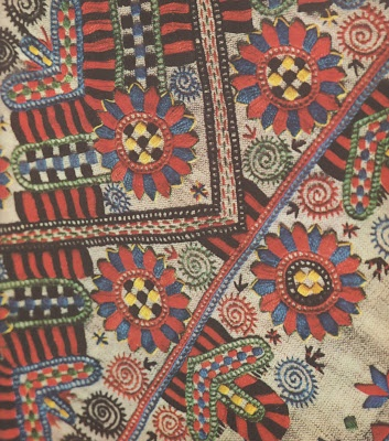une collecte: Hungarian Folk Art. Hungarian textiles. Scan from book published in 1968.
