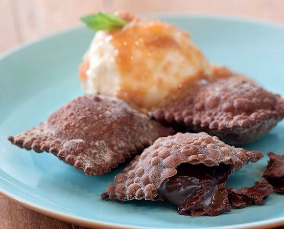 Chocolate Ravioli Recipe (Valentine's Day) Food for lovers!