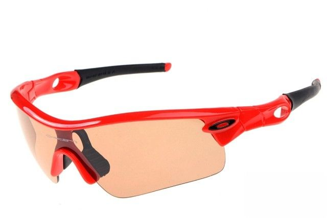 Oakley Radar Pitch sunglasses red / persimmon iridium - Up to 86% off Oakley sunglasses for sale online, Global express delivery and FREE returns on all orders. #Oakley #sunglasses #cheapoakleysunglasses #mensunglasses #womensunglasses #fakeoakeysunglasses