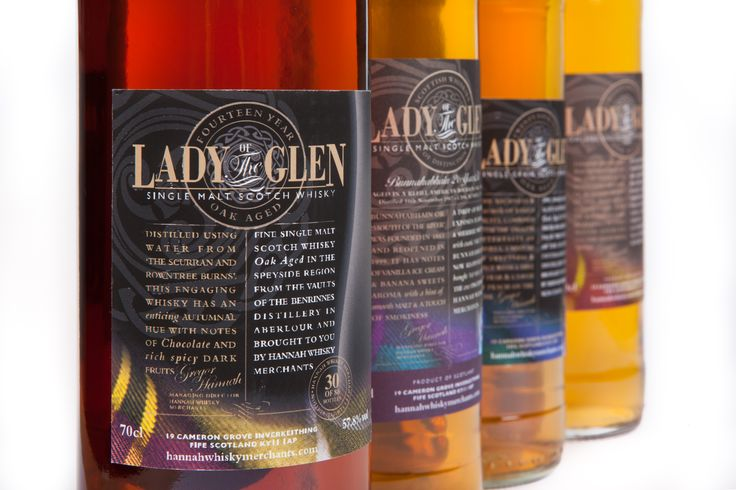 The Lady of the Glen classic Whisky range