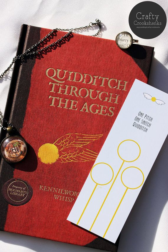 """This bookmark for the Quidditch-phile: 
