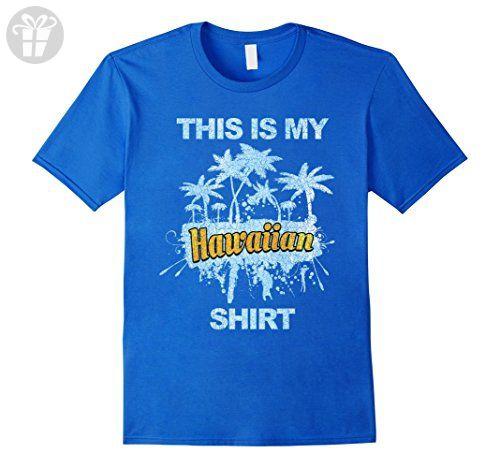 Mens This is My Hawaiian T Shirt Funny Vintage Style Tee Small Royal Blue - Funny shirts (*Amazon Partner-Link)