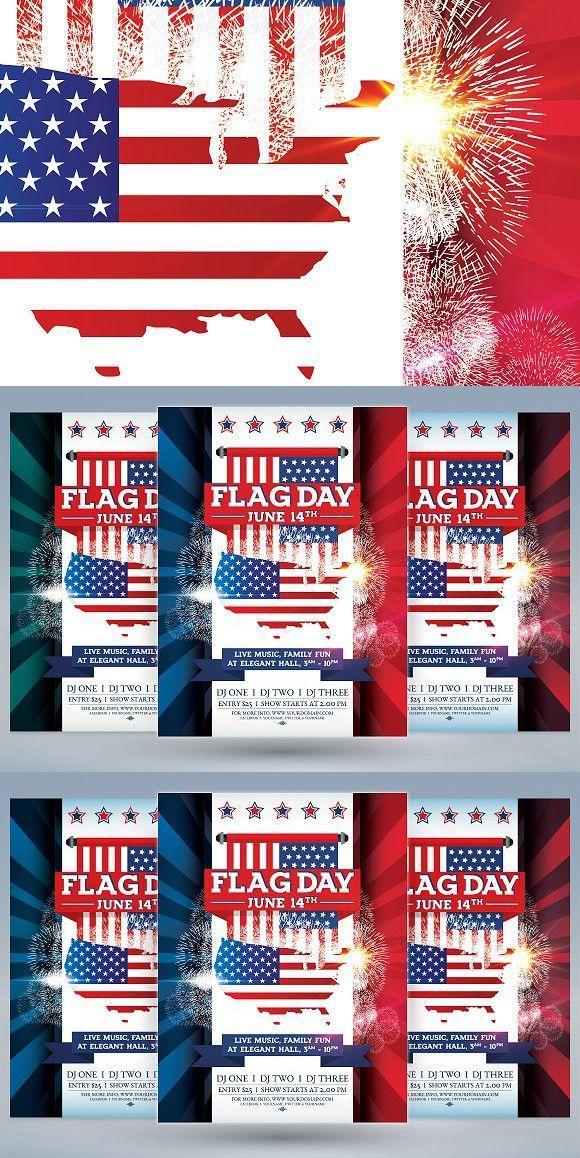 Flag Day Flyer Minimal Flyers Flag, Minimalism