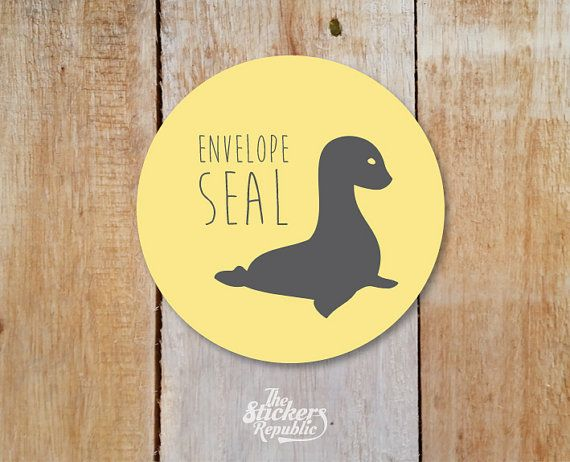 FREE SHIPPING_Envelope Seal Stickers 15in Seal Labels