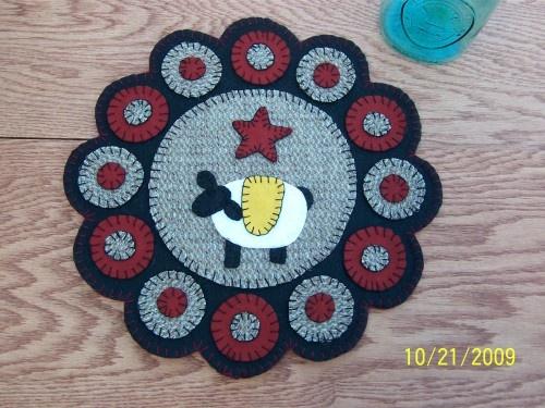 Sheep penny rug