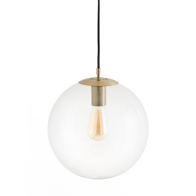 Alluring And Elegant This Glass Globe Light Fixture With Its