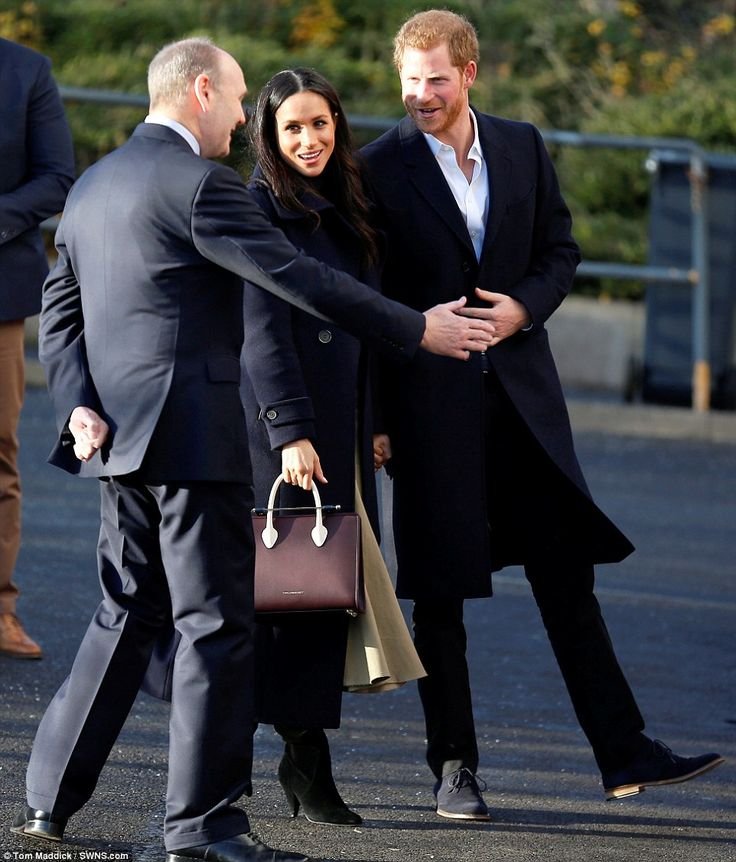 Harry and Miss Markle began their tour at the National Justice Museum in Nottingham Lace M...