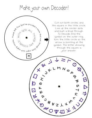 Make your own decoder - would be fun to re-make for a party.