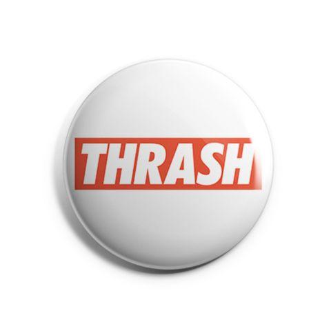 Thrash Metal Pin Badge by Mosher Clothing