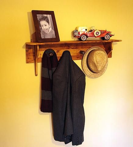 Shaker Style Coat Hanger Made With Reclaimed Timber And Vintage Chisel Handles - Arte Povera - 1