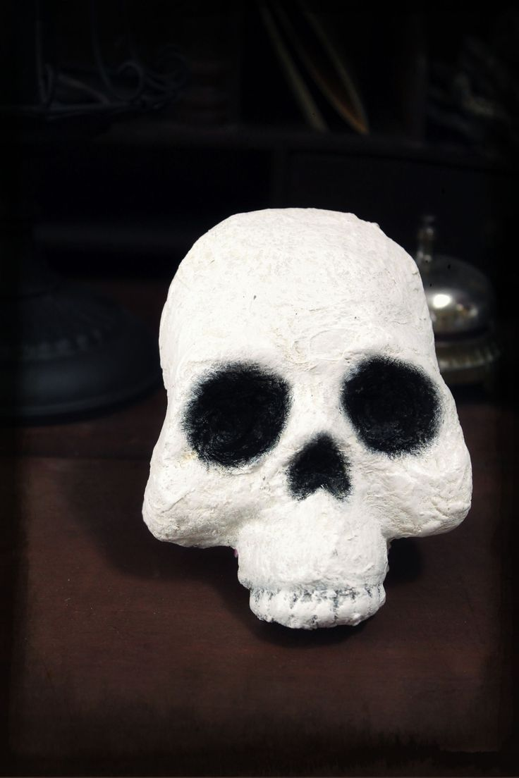 Faux Papa Legba style mask (cut off front of a Dollar Tree plastic skull,  then cotton ball and modpodge over it).