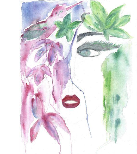 ORIGINAL LARGE Watercolor Fashion by SigneGoldeneye on Etsy