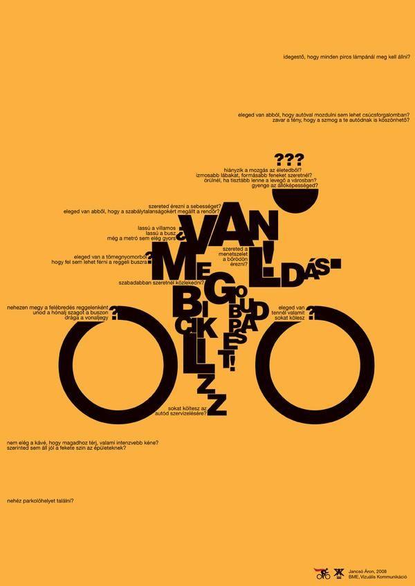 원 타이포 포스터 / Typography by Aron Jancso | Cuded