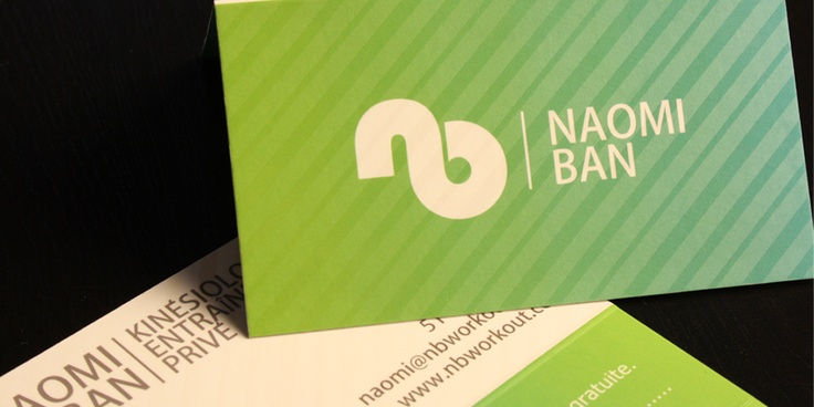Impression cartes professionnelles Naomi Ban