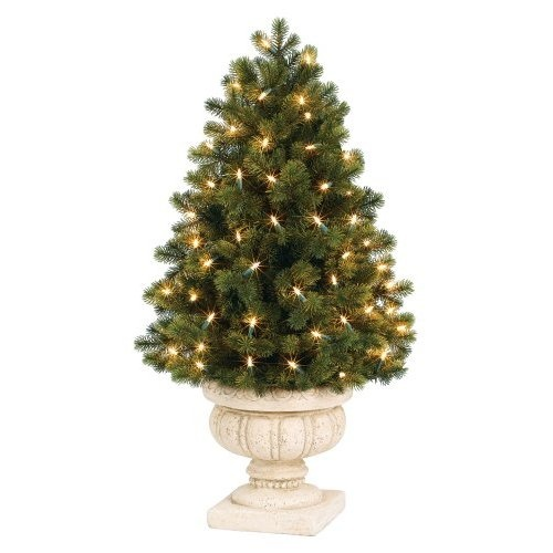 amazoncom gki bethlehem lighting pre lit. amazoncom gki bethlehem lighting potted 3foot savannah spruce topiary tree with gki pre lit a