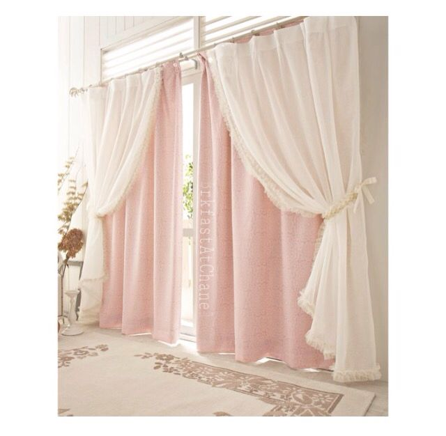Brkfastatchanel Home Sweet Home Curtains Pink
