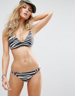 Billabong Reversible Animal Print Triangle Bikini