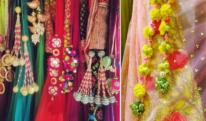When it comes to bridal style, it's all in the details people and lehenga tassels have to be our FAVOURITE little detail that look super chic. A plain ombre lehenga with the most funky lime green t...