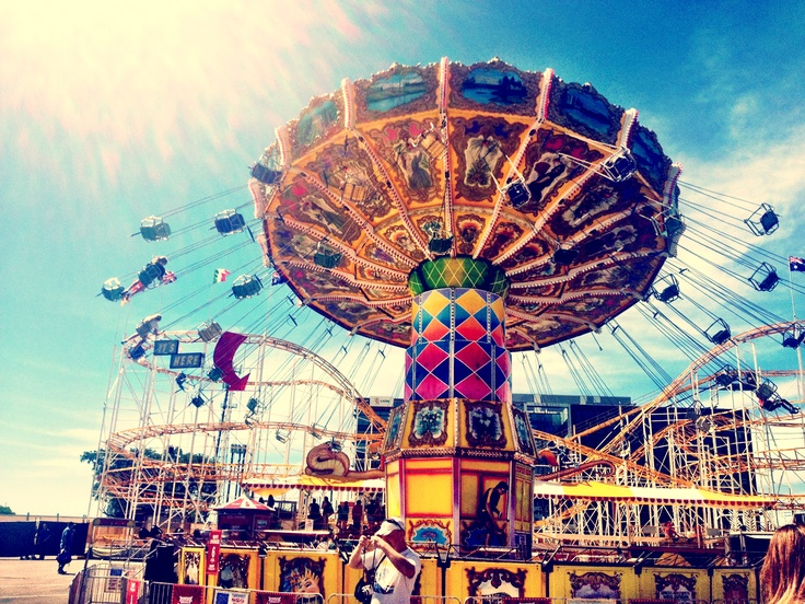 We're kids at heart, can't go past the chair swing at the Sydney Royal Easter Show!