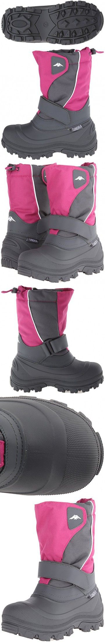 Tundra Quebec N Winter Boot (Infant/Toddler/Little Kid/Big Kid), Fuchsia Charcoal, 7 M US Toddler