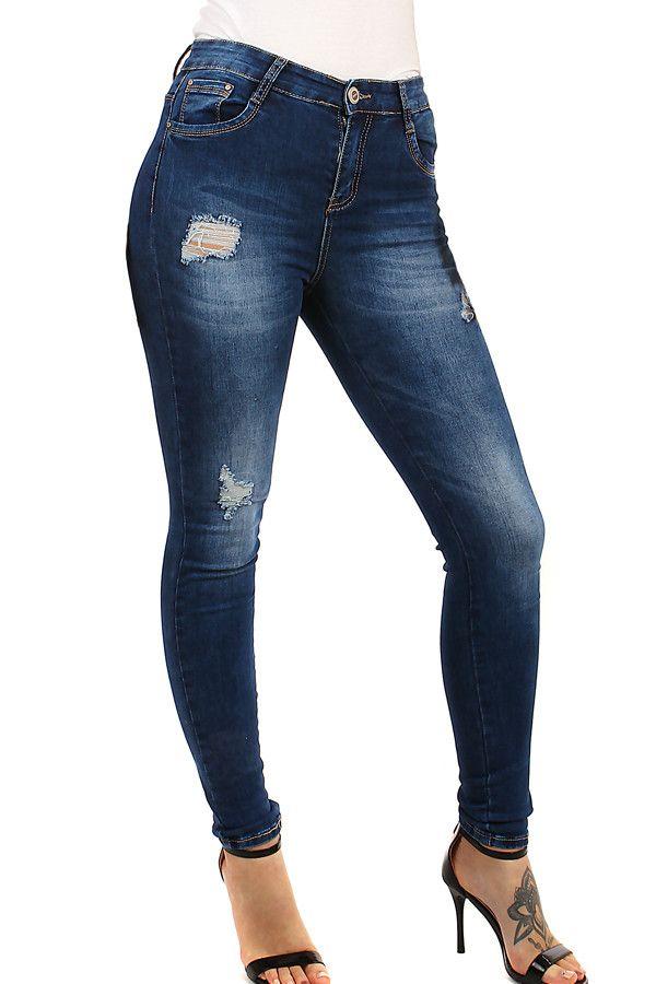 Dámské jeans s vysokým pasem - koupit online na Glara.cz  glara  fashion   džíny  dziny  dámskédžíny  damskedziny  jeans  rifle  dámskéjeans   damskejeans ... 05a4b89293