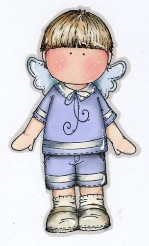 COUNTRY BOY ANGEL CLIP ART