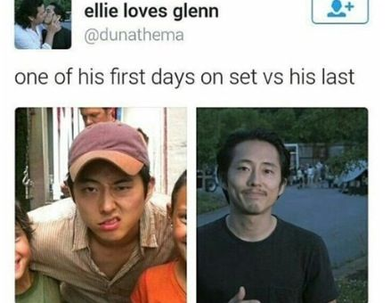 I miss Glenn I'm never going to be over it his death was stupid and he deserved so much better