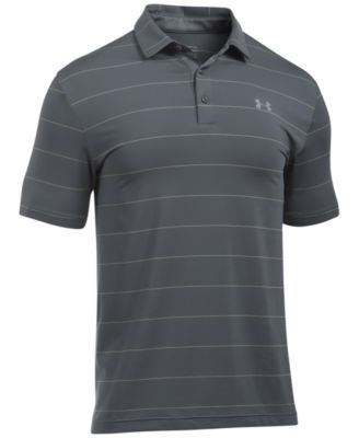UNDER ARMOUR Under Armour Men'S Playoff Performance Striped Golf Polo. #underarmour #cloth # polos