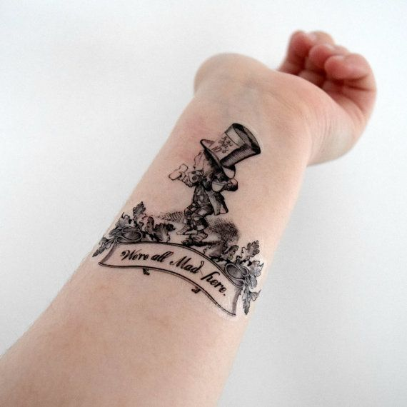 Image result for mad hatter tattoo