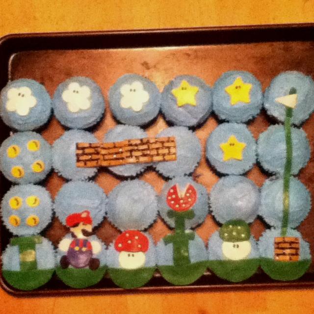 Mario cupcakes i made!: Cupcake Rosa-Choqu, Parties Ideas, Mario Cupcake