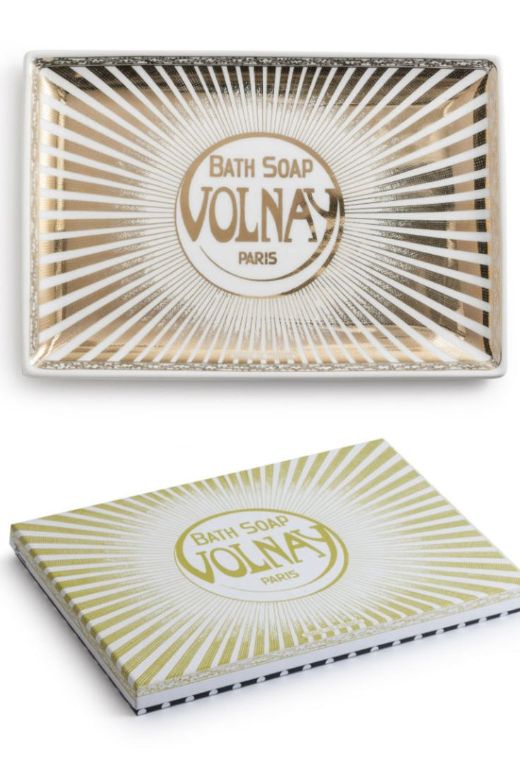 """This fashionable tray is the perfect boudoir accessory featuring vintage ephemera from New York and Paris. Comes in a gift box for easy gift giving. Made of porcelain with 24 karat gold. Hand washing recommended. Do not microwave.     Dimensions: 9.75"""" x 6.5""""   Boudoir Tray by Rosanna Inc.. Home & Gifts - Home Decor - Decorative Objects Toronto, Canada"""