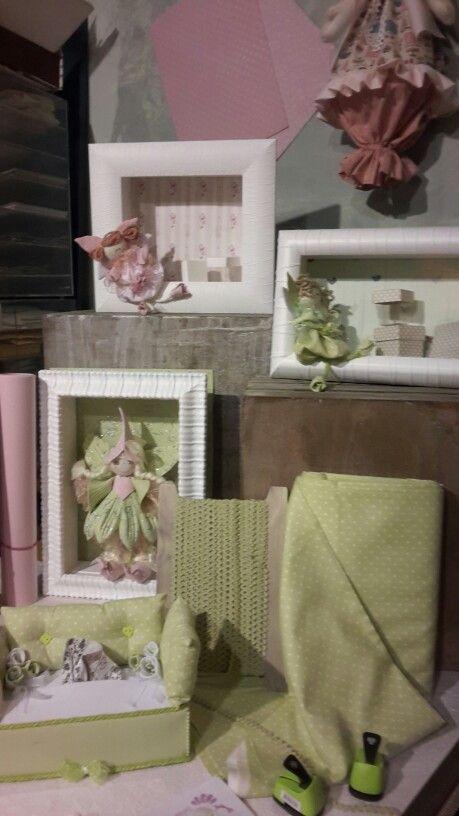 Shelves with frames