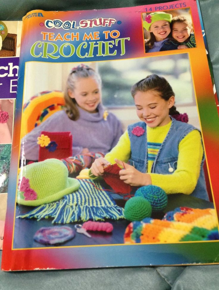 Cool Stuff - Teach Me to Crochet - 14 Projects - Leisure Arts by OddlyandVintage on Etsy