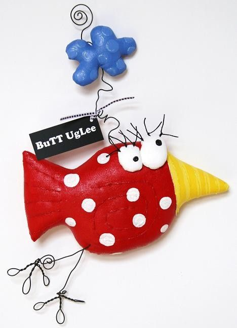 BirD named AsPeN with ClouD ... Red polka dots ... by buttuglee
