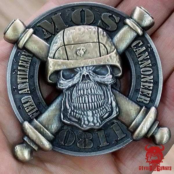 USMC 0811 Field Artillery MOS Coin $17.75 | MOS Coins ...