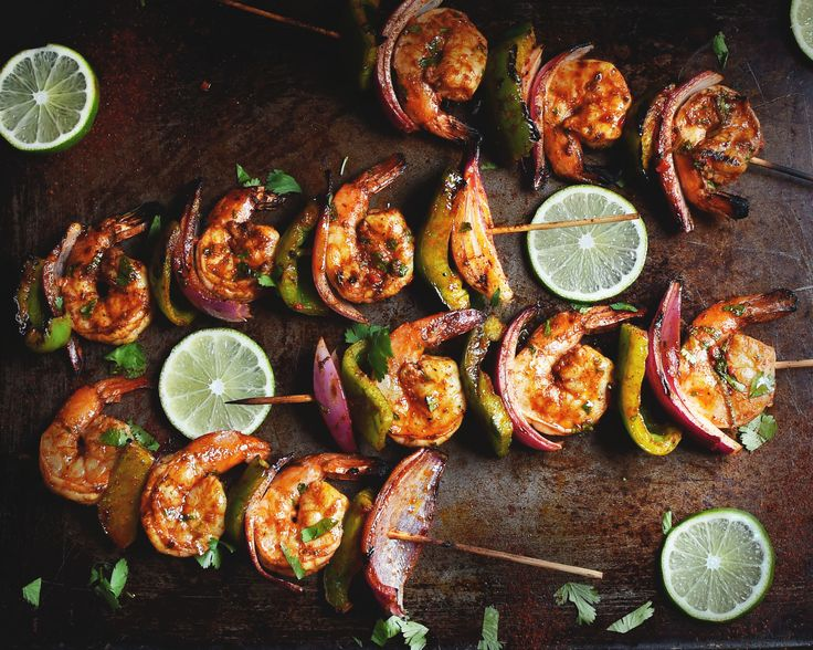 Grilled Chili Lime Shrimp Kabobs - Simply So Healthy