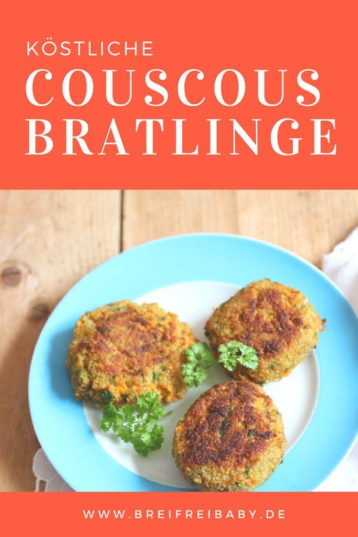 Couscous Rezept das super einfach ist: Couscousbratlinge - die schmecken auch Kindern und stehen in 20 Minuten auf dem Tisch. Schnell und lecker und gesund.  #schnell #vegetarisch