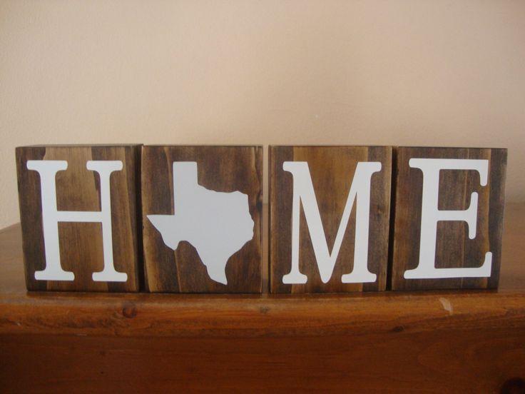 Texas Blocks. Home Blocks. Texas Decor. Home State Decor. Rustic Decor. Wood Blocks. TX Decor. TX Blocks by DeannasCraftCottage on Etsy