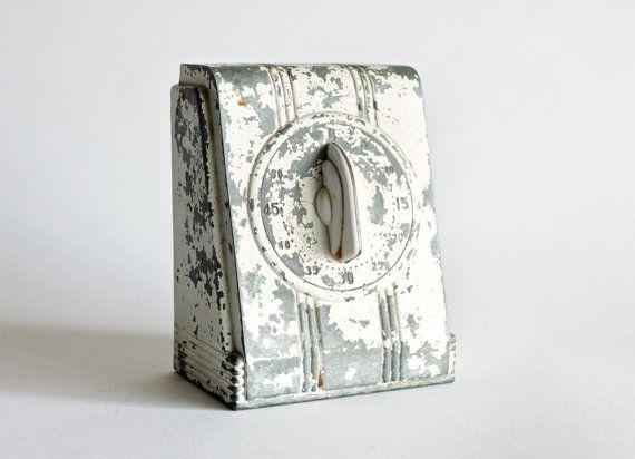 Rustic Kitchen Timer by MiesEnScene on Etsy, $78.00