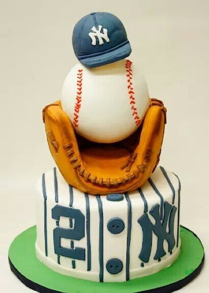 Yankee cake.  If not Yankees you could do any team probably.  That's cute or do  you want hunting or fishing.