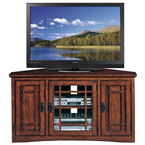 Leick Riley Holliday Mission Corner TV Stand with Storage, 46-Inch, Oak - http://32inchtv.org/tvs-by-screen-size/leick-riley-holliday-mission-corner-tv-stand-with-storage-46-inch-oak/